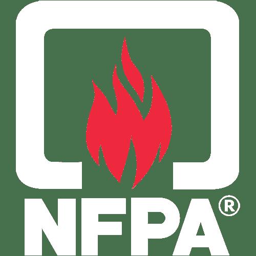 Logo nfpa para sistema de deteccion y alarma contra incendio