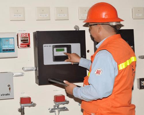 mantenimiento de sistema de detección y alarma contra incendio