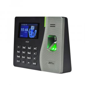 Control de acceso y asistencia con huella digital y o tarjeta y o clave Zkteco ZK-K20