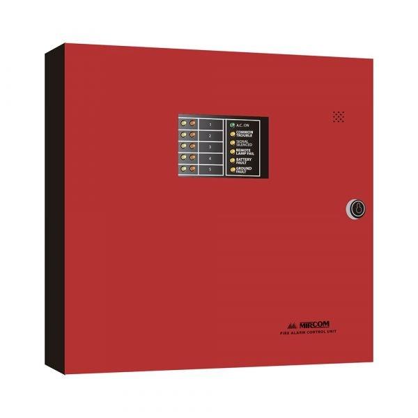 Panel de control de incendio de 5 Zonas Mircom FA-1025U